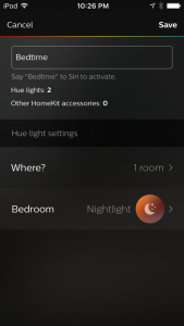 Philips Hue Scene with HomeKit & Siri