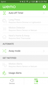 wemo insight usage alerts