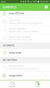 wemo insight usage alerts