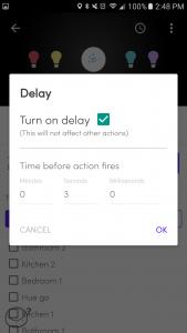 Flic Android app Delay setting