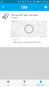 Tile Notify-when-found notification