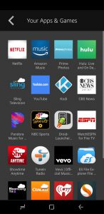 image of Screenshot of Your Apps & Games page on Fire TV app