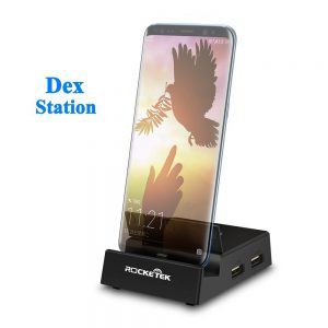 image of rocketek usb c docking station for samsung galaxy