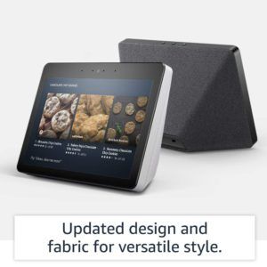 image of 2nd gen echo show fabric on the back