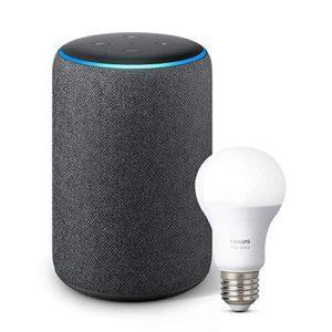 image of echo plus 2018 philips hue light bulb bundle