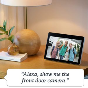 image of echo show 2018 built in smart home hub