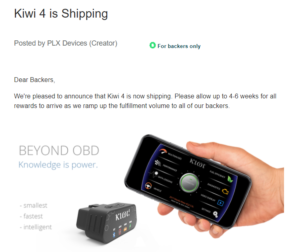 image of kiwi 4 by plxdevices shipping