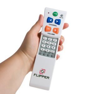 image of flipper big button remote for 2 devices