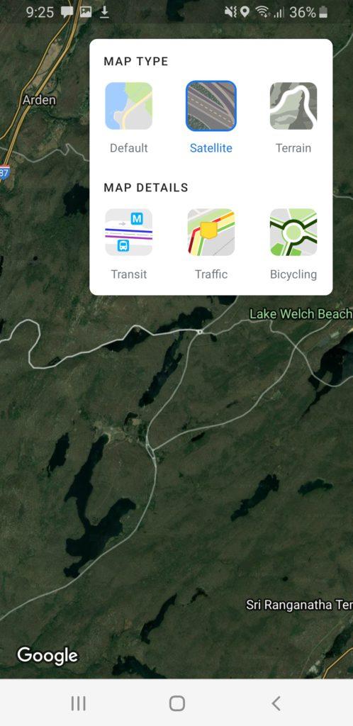 image of google map satellite