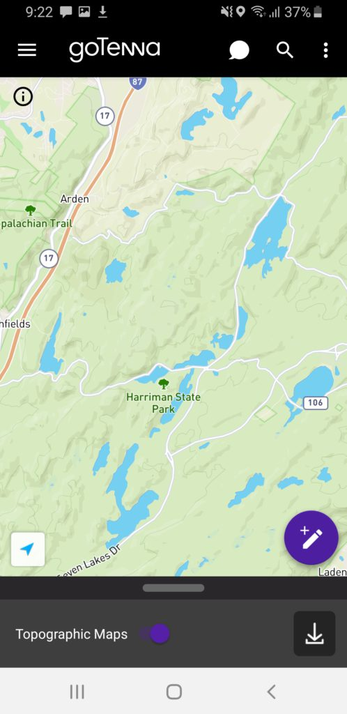 image of gotenna plus topographic map