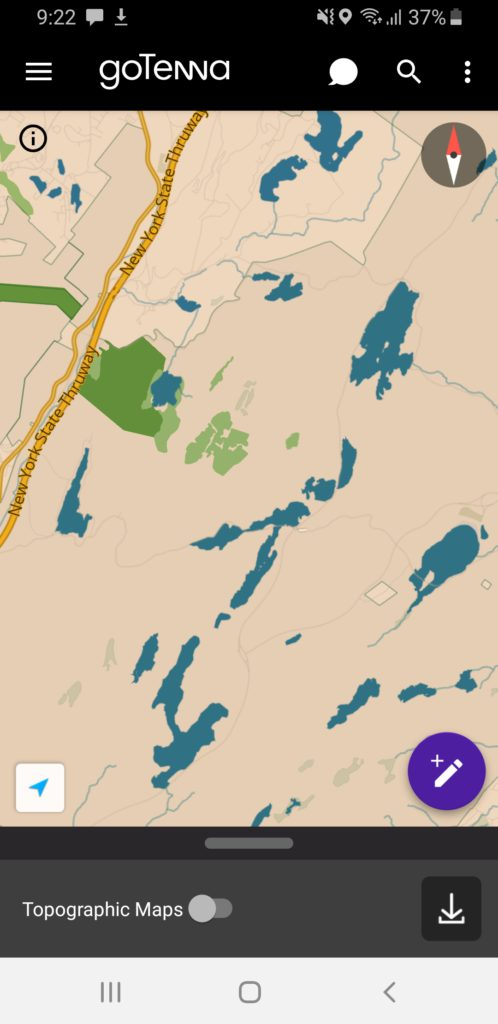 image of gotenna plus street map