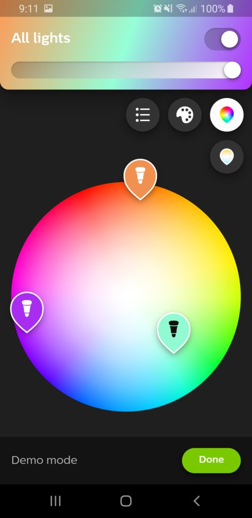 image of philips hue bluetooth app millions of colors