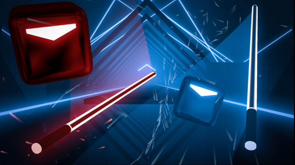 image of beat saber oculus vr game