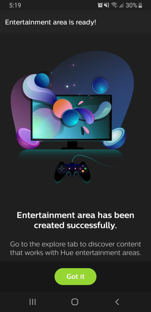 image of philips hue entertainment