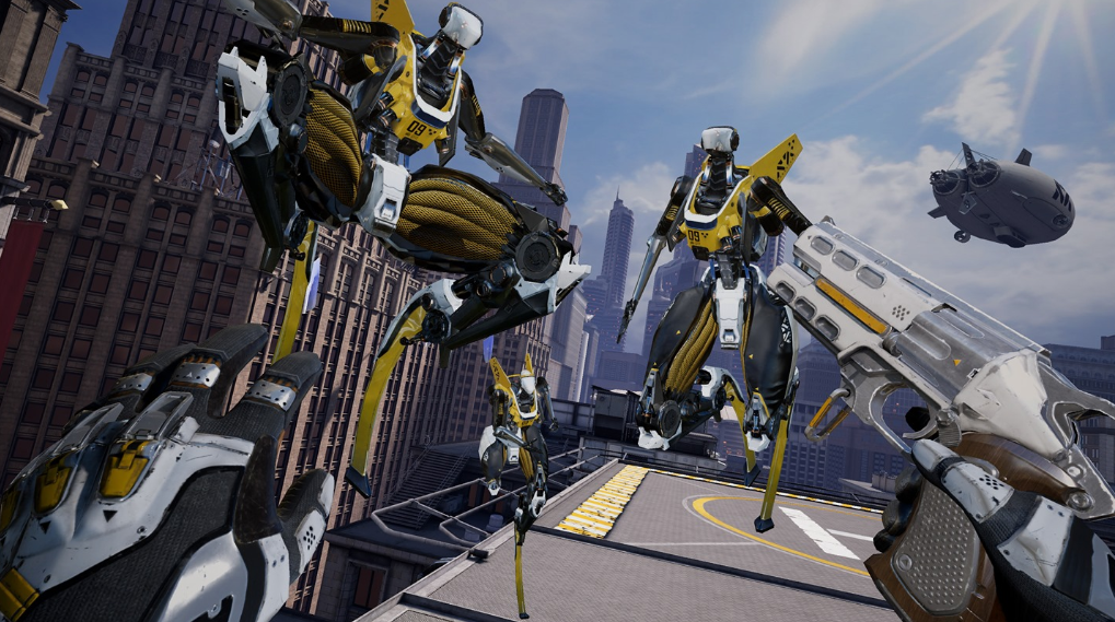 image of robo recall unplugged oculus vr game
