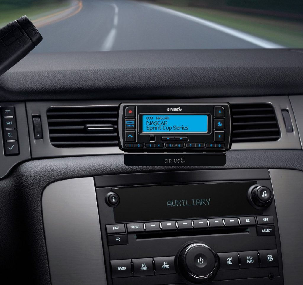 image of siriusxm satellite radio with vehicle kit