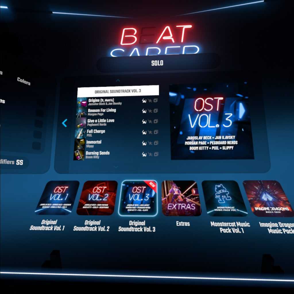 image of beat saber update free new songs ost vol3