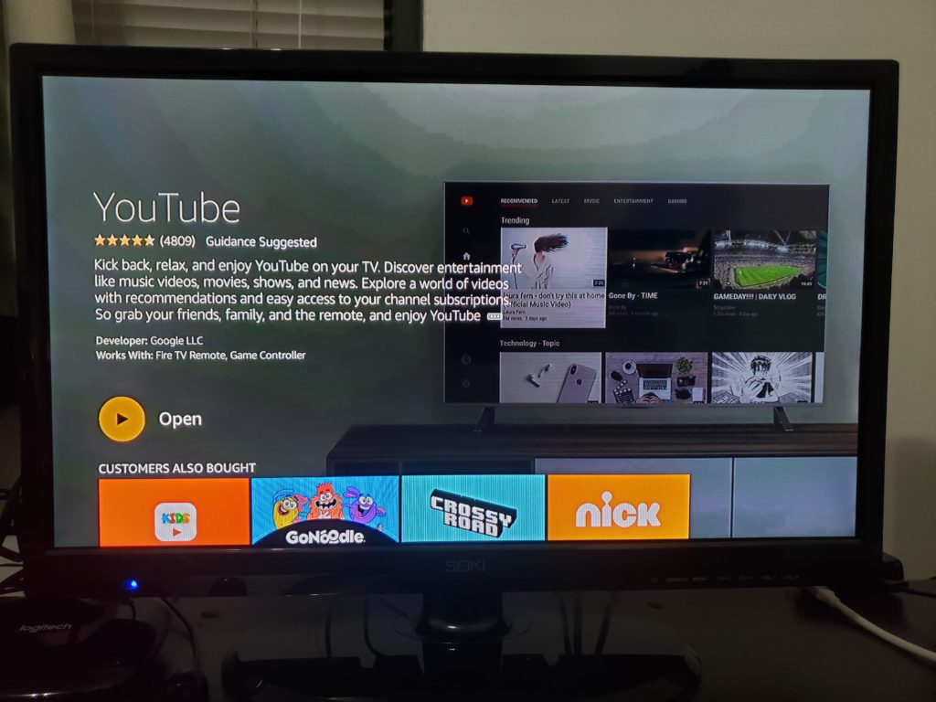 image of youtube is back on fire tv