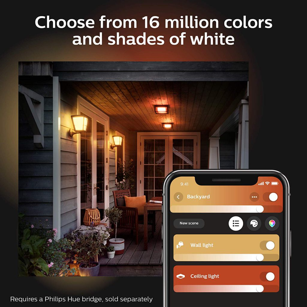 image of philips hue econic outdoor lantern fixture