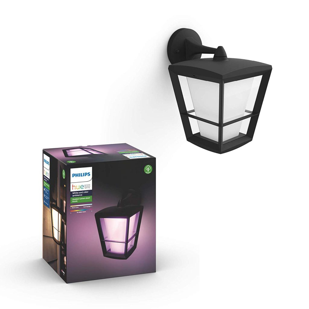 image of philips hue econic wall down lantern