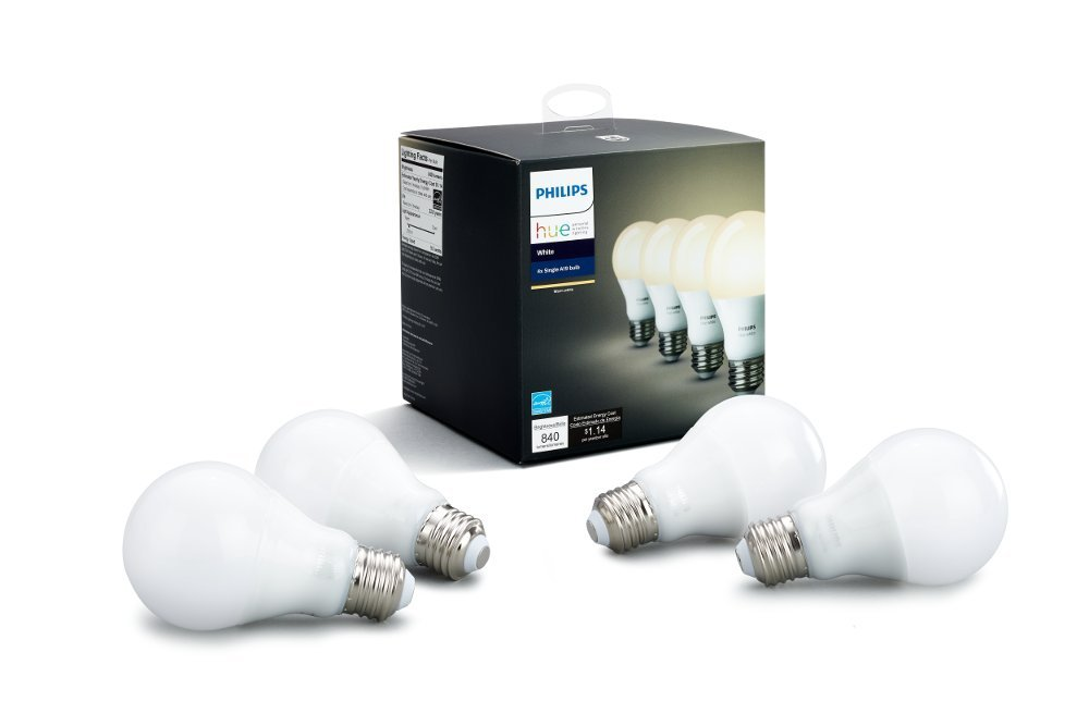 image of philips hue white a19 4pack