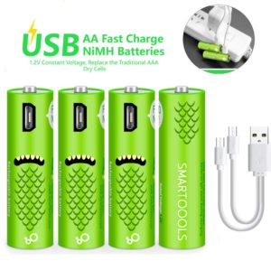 image of usb rechargeable aa batteries
