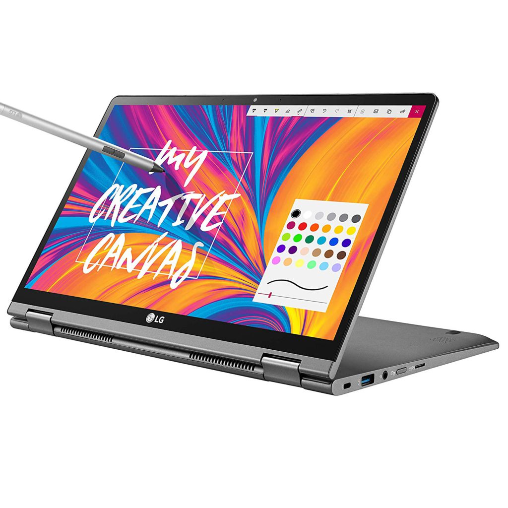 image of lg gram 14 2 in 1 ultra lightweight laptop