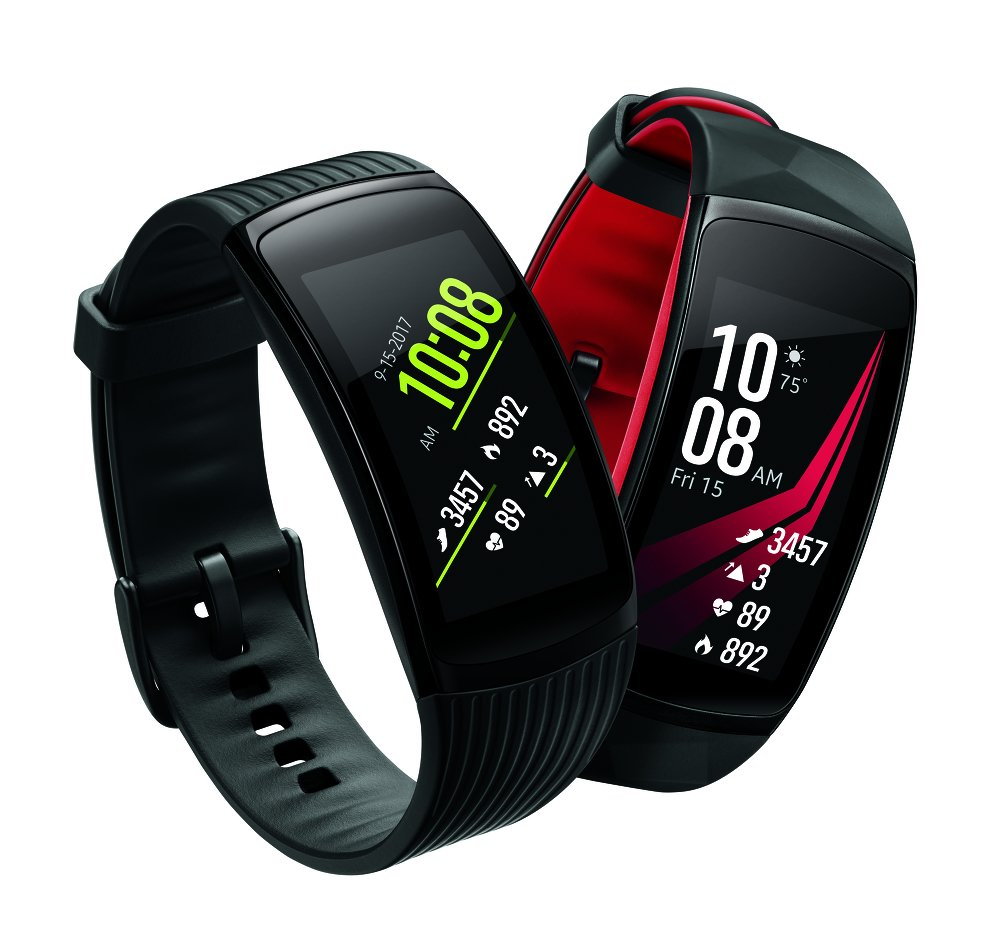 image of samsung gear fit 2 pro red and black