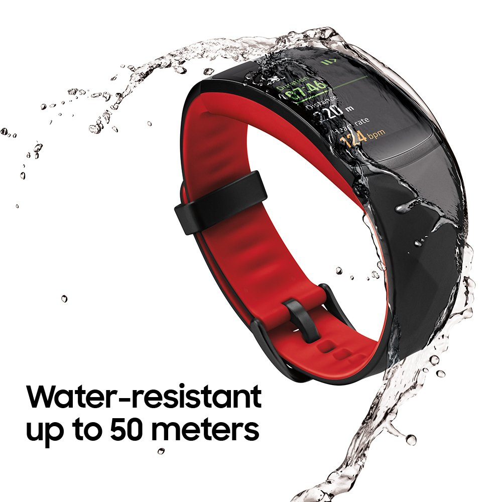 image of samsung gear fit 2 pro water resistant up to 50 meters