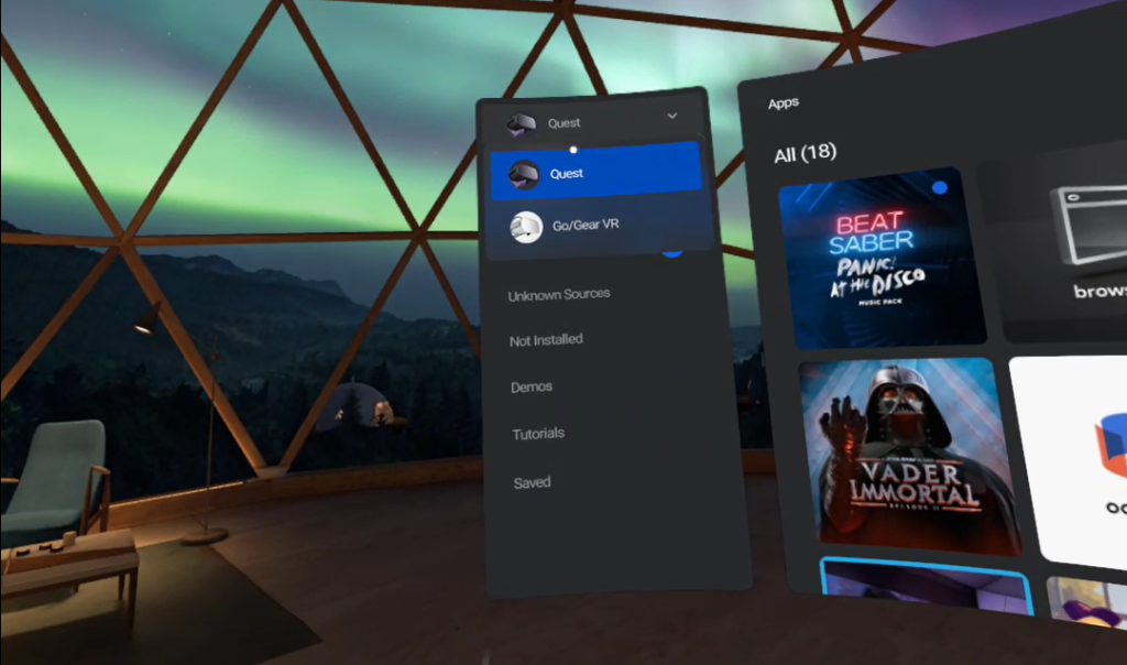 image of oculus go gear vr games on oculus quest
