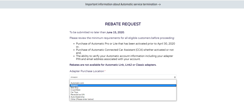 image of submit automatic rebate by june 15th